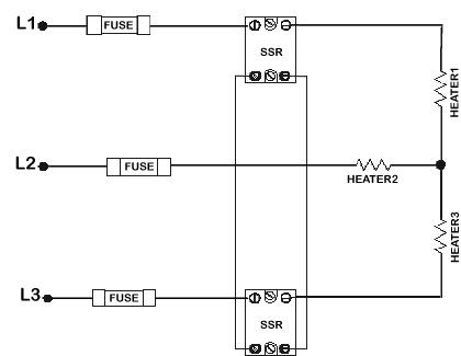 Anacon Power & Controls - 50A/Leg 3 Phase Solid State Relay ... on 3 phase wiring a receptacle, power diagram, open delta transformer connection diagram, 3 phase voltage symbol, 480 three-phase diagram, 480v heating element diagram, 3 phase motor wiring connection, 3 phase heating element connections, 3 phase wiring for dummies, 3 phase electrical wiring, 480 open delta transformer diagram, 3 phase wye wiring, 3 phase electric heat formulas, wye delta connection diagram, three-phase circuit diagram, 3 phase wire identification uvw, 3 phase resistance calculation,